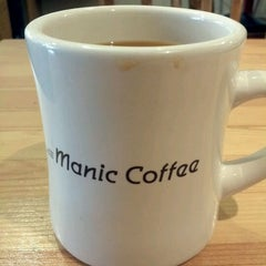 Photo taken at Manic Coffee by Brian d. on 2/8/2012
