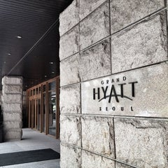 Photo taken at Grand Hyatt Seoul by Hee Jeong K. on 6/16/2012