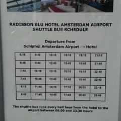 Photo taken at Radisson Airport Shuttle by Magnus B. on 3/12/2012