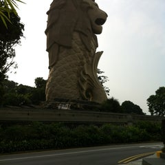 Photo taken at The Merlion (Sentosa) by Ray K. on 8/24/2012