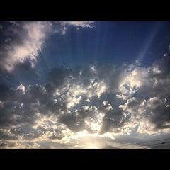 Photo taken at Platja del Pla de Montgat by Jorge N. on 7/28/2012