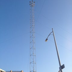 Photo taken at Moonlight Tower (9th & Guadalupe) by Yelin S. on 5/27/2012