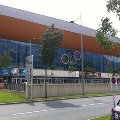 Photo taken at Olympiahalle by Victoria T. on 8/6/2012