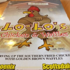 Photo taken at Lo-Lo's Chicken & Waffles by Chris V. on 3/19/2012