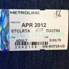 Photo taken at Metrolink Santa Clarita Station by Brett H. on 4/18/2012