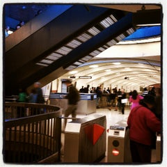 Photo taken at Downtown Berkeley BART Station by Amy G. on 4/19/2012