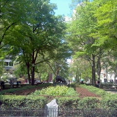 Photo taken at Rittenhouse Square by Joshua H. on 4/19/2012
