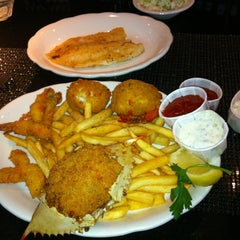 Photo taken at Pappas Seafood House by Amanda R. on 7/19/2012