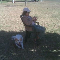 Photo taken at Sepulveda Basin Off-Leash Dog Park by Ivy B. on 2/5/2012