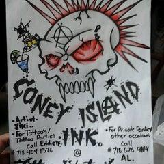 Photo taken at Coney Island Ink by Layden on 3/30/2012