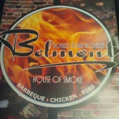 Photo taken at Belmont House of Smoke by Lo-Lo B. on 4/15/2012