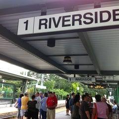 Photo taken at MBTA Riverside Station by Greg F. on 8/16/2012