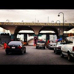 Photo taken at Puente Internacional Santa Fe (Paso Del Norte) by Omar V. on 3/15/2012