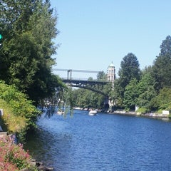 Photo taken at Montlake Bridge by Eric R. on 7/11/2012