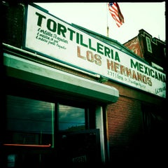 Photo taken at Tortilleria Mexicana Tres Hermanos by CocteauBoy on 6/7/2012