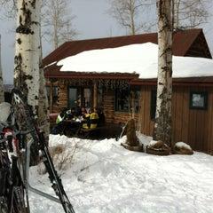Photo taken at Lynn Britt Cabin by Lauren W. on 2/10/2012