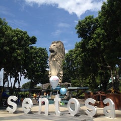 Photo taken at The Merlion (Sentosa) by Kate Y. on 5/6/2012