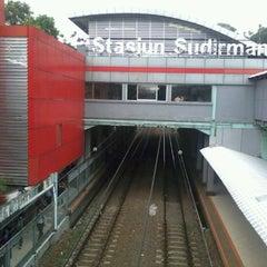 Photo taken at Stasiun Sudirman by Sinta A. on 5/24/2012
