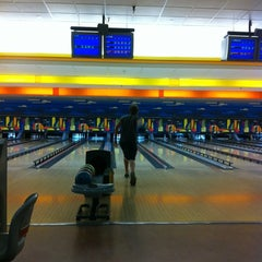 Photo taken at Buffaloe Lanes Cary Bowling Center by Apex E. on 5/27/2012