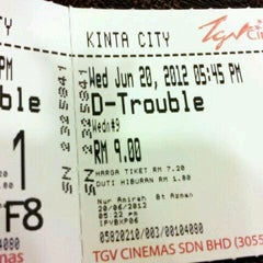 Photo taken at TGV Cinemas by Heve S. on 6/20/2012