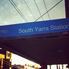 Photo taken at South Yarra Station by Kaz O. on 5/7/2012