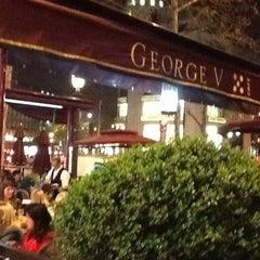 Photo taken at Café George V by Frantz C. on 3/24/2012
