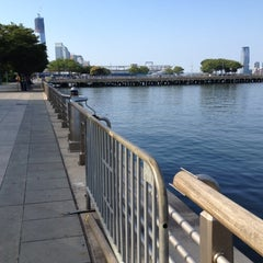 Photo taken at Hudson River Park by Leigh F. on 8/12/2012