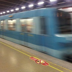 Photo taken at Metro Irarrázaval by Vktor Mñoz S. on 7/12/2012