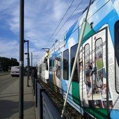 Photo taken at Fort Snelling LRT Station by Melissa H. on 8/17/2012