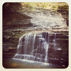Photo taken at Buttermilk Falls State Park by Thomas P. on 9/2/2012