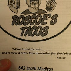 Photo taken at Roscoe's Tacos by Matt D. on 4/4/2012