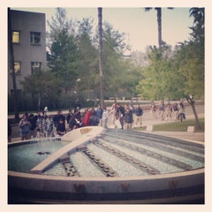 Photo taken at Ralph Prator Fountain by Sundial N. on 3/13/2012