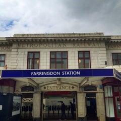Photo taken at Farringdon London Underground Station by Nick R. on 7/18/2012