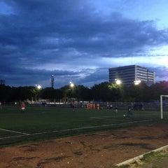 Photo taken at Cancha de Futbol de la Delegación Benito Juarez by Arturo on 7/12/2012