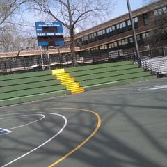 Photo taken at Rucker Park Basketball Courts by B. P. on 3/12/2012