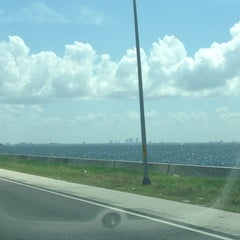 Photo taken at Howard Frankland Bridge by Jared I G. on 7/29/2012