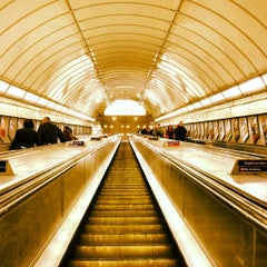Photo taken at Angel London Underground Station by Ree S. on 5/15/2012
