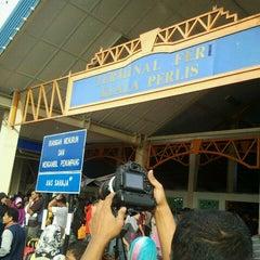 Photo taken at Jeti Kuala Perlis (Jetty) by Syaharani S. on 2/4/2012