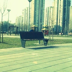 Photo taken at Park u bloku 62 by Vladan J. on 3/22/2012