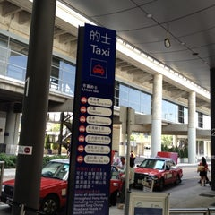 Photo taken at Taxi Stand @HKIA by BJ Y. S. on 5/10/2012