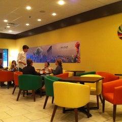 Photo taken at Kibberia Middle Eastern Restaurant & Cafe by Mark B. on 6/12/2012