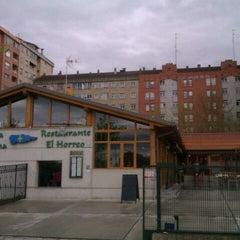 Photo taken at Restaurante Sidrería El Horreo by Borja on 4/25/2012