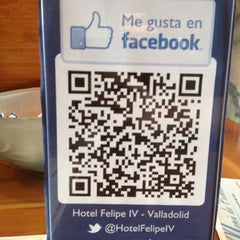 Photo taken at Hotel Felipe IV Valladolid by Clara S. on 5/31/2012