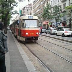 Photo taken at Štěpánská (tram) by Altino G. on 7/13/2012