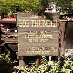 Photo taken at Big Thunder Mountain Railroad by Skyler T. on 7/6/2012