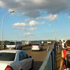 Photo taken at Ponte Internacional da Amizade by Luciano S. on 4/17/2012