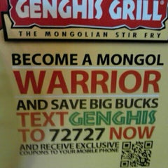 Photo taken at Genghis Grill by MarcAlan T. on 3/9/2012