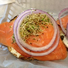 Photo taken at Einstein Bros Bagels by Chris B. on 2/20/2012