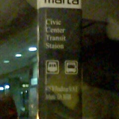 Photo taken at MARTA - Civic Center Station by Emily S. on 2/13/2012