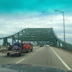 Photo taken at Piscataqua River Bridge by Frank I. on 7/7/2012